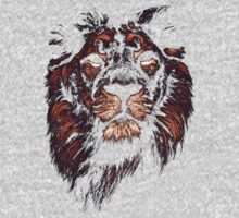 colored lion, indian lion One Piece - Long Sleeve