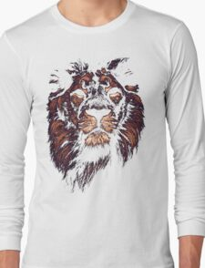 colored lion, indian lion Long Sleeve T-Shirt