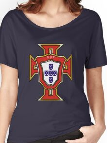 Portugal Football Federation Cross Women's Relaxed Fit T-Shirt