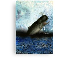 Stop water pollution Canvas Print