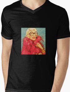 Iris Apfel Mens V-Neck T-Shirt