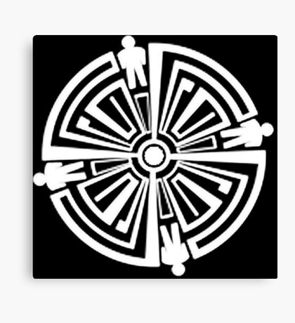 Haven Troubled Guard Tattoo White Logo Canvas Print
