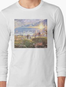 Retro Space Painting New Age World Long Sleeve T-Shirt