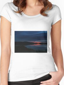 When the Sun Goes Down in a Very Small Town Women's Fitted Scoop T-Shirt