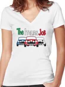 Italian Job Mini Women's Fitted V-Neck T-Shirt