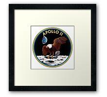 Apollo 11 Logo Old Logo Badge Framed Print
