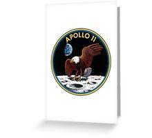 Apollo 11 Logo Old Logo Badge Greeting Card