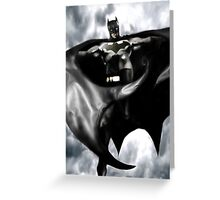 Batman, From the skies Greeting Card