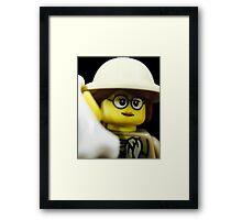 Lego Paleontologist Framed Print