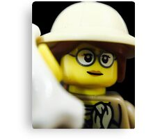 Lego Paleontologist Canvas Print