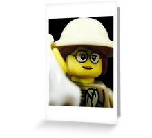 Lego Paleontologist Greeting Card