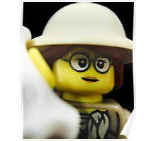 Lego Paleontologist Poster