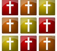 Colorful Christian Crosses by morningdance