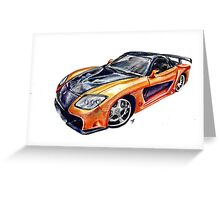 RX7 - FAST & FURIOUS Greeting Card