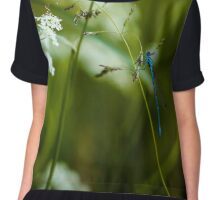 Polish Dragonfly in the Grass Chiffon Top