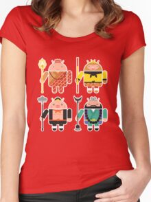 Droid Journey to the West Women's Fitted Scoop T-Shirt