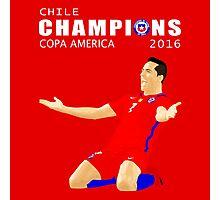 CHILE, CHAMPIONS COPA AMERICA 2016 Photographic Print