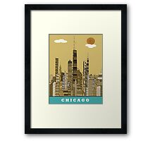chicago city  Framed Print