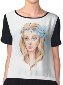 Girl with blue eyes  Chiffon Top