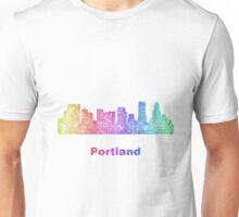 Rainbow Portland skyline Unisex T-Shirt