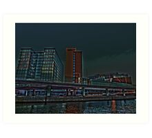 Stockholm central station at night by Tim Constable Art Print