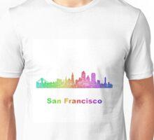 Rainbow San Francisco skyline Unisex T-Shirt