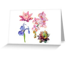Flora and Fauna Pattern  Greeting Card