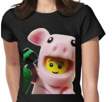 Piggy Guy Womens Fitted T-Shirt