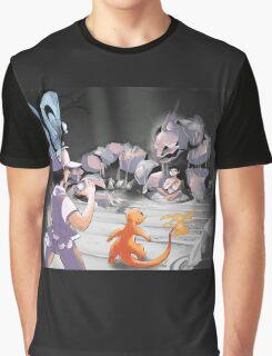Nostalgic Battle at Pewter City Gym Graphic T-Shirt
