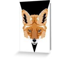 Symmetrical Fox Greeting Card