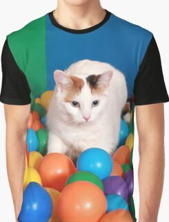 Cat Playing in balls Graphic T-Shirt