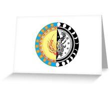 Phenix Sun, Wolf Moon Greeting Card