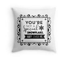 Special Snowflake Throw Pillow
