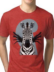 Symmetrical Zebra Tri-blend T-Shirt