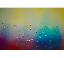 Colorful Bubbles on Glass Photographic Print
