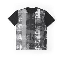 Distorted Alphabet Graphic T-Shirt