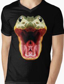 Symmetrical Snake Mens V-Neck T-Shirt