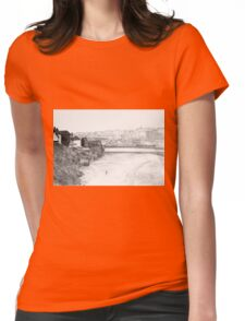 Walk on Whitby beach Womens Fitted T-Shirt