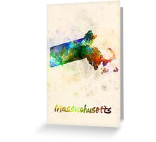 Massachusetts US state in watercolor Greeting Card