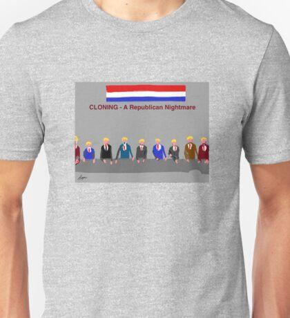 Cloning, A Republican Nightmare, by Roger Pickar, Goofy America Unisex T-Shirt