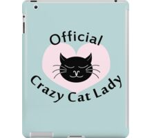 Official Crazy Cat Lady. iPad Case/Skin