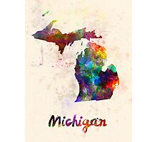 Michigan US state in watercolor Photographic Print