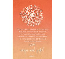 Sacral Chakra Affirmation Photographic Print