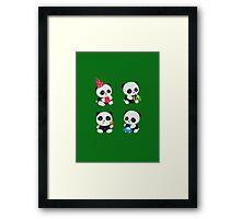 Cute Pandas  Framed Print