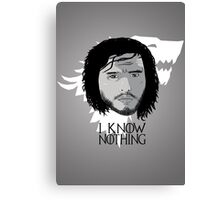 I know nothing Canvas Print