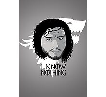 I know nothing Photographic Print