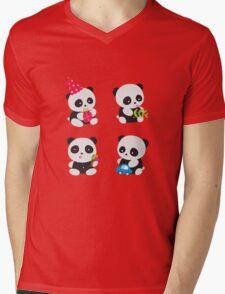 Cute Pandas  Mens V-Neck T-Shirt