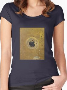 vintage brass brand plate Women's Fitted Scoop T-Shirt