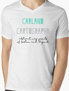 Carland Cartography Logo Mens V-Neck T-Shirt