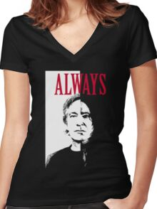 snape Women's Fitted V-Neck T-Shirt